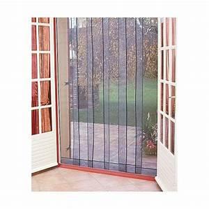 Moustiquaire Pour Porte : rideau de porte moustiquaire arles 6 bandes 160x220 cm ~ Voncanada.com Idées de Décoration