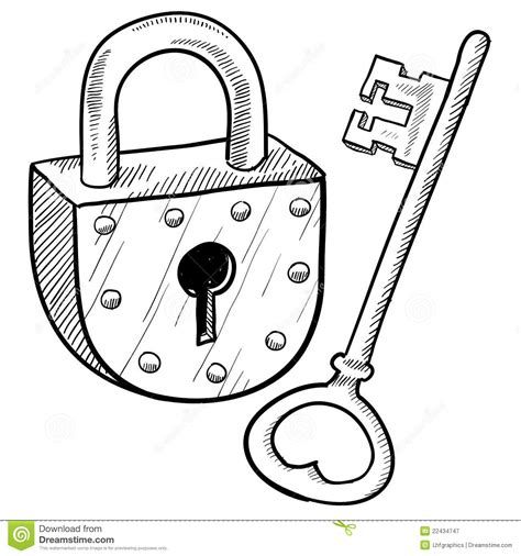 Slot Kleurplaat by Retro Lock And Key Stock Vector Image Of Safe
