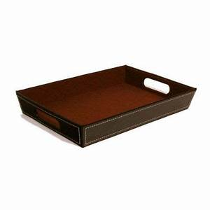 amazoncom brown faux leather valet tray basket With brown leather letter tray
