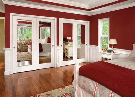 reflections mirror by pass closet doors traditional