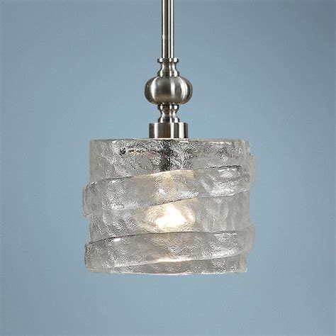 uttermost mossa seeded glass 1 light mini pendant light