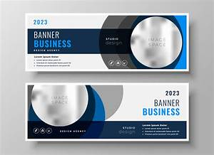 Free Leaflet Template Abstract Circle Business Banners Modern Template