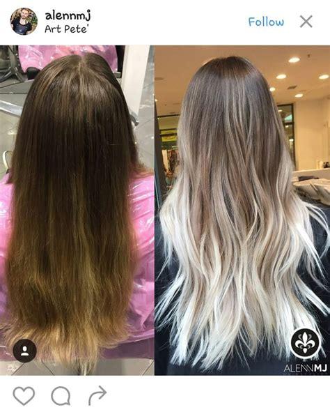 Black And White Balayage Hair