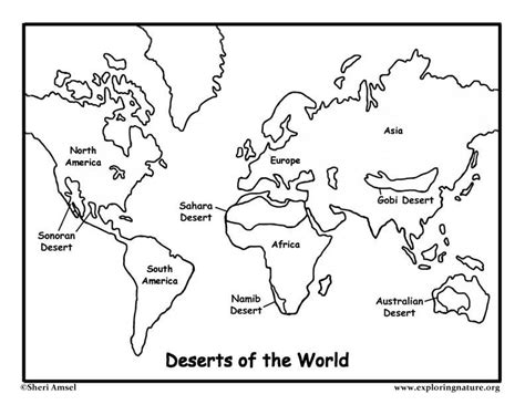 deserts   world coloring page