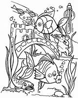 Coloring Aquarium Fish Pages Tropical Printable Kissing Glass Baltimore Wall Getcolorings Couple sketch template