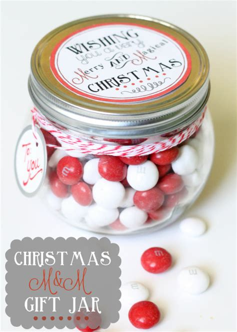 christmas jar gifts christmas m m gift jar