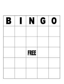 blank bingo board for or assessment by penguins dont