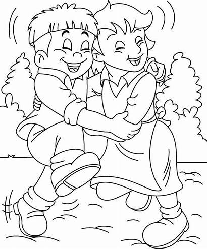 Coloring Pages Friendship Friend Friends Colouring Printable