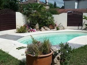 Amenagement Autour Piscine Photos : am nagement exterieur autour de la piscine aquagr ment ~ Premium-room.com Idées de Décoration