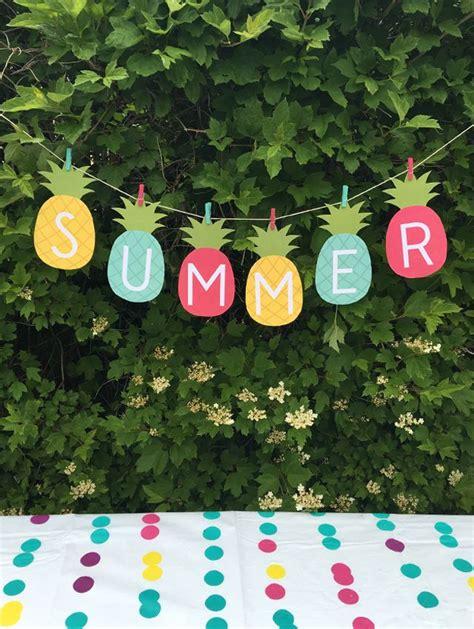 pineapple summer banner  printable ultimate