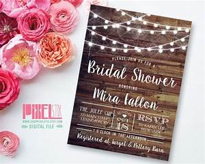 rustic glam bridal shower invitation country bridal With country glam wedding invitations