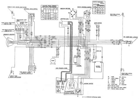 honda cl ss125a electrical wiring diagram circuit wiring diagrams