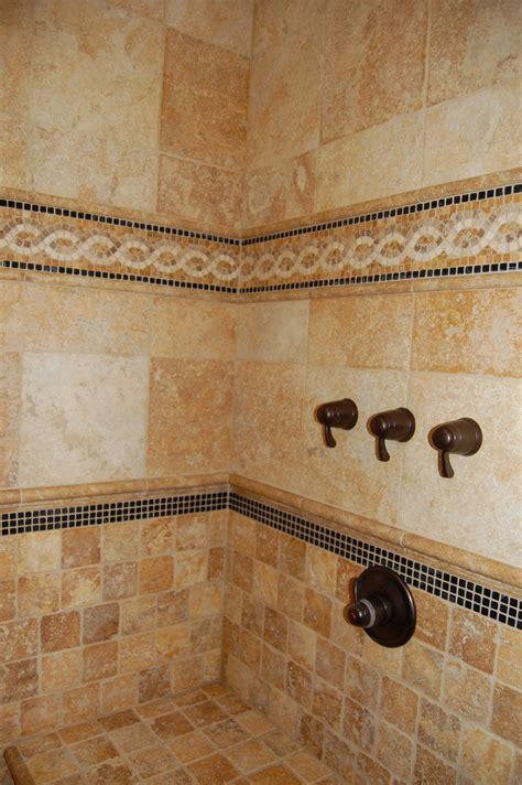 cool ideas travertine tile  shower walls