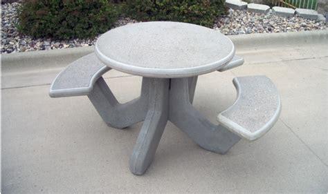 precast concrete picnic tables round precast concrete picnic table barco products