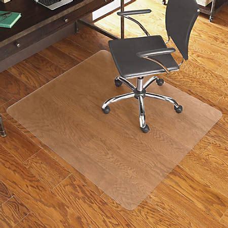 Clear Floor Mats For Hardwood Floors - es robbins hardwood floor chair mat rectangular 46 x 60