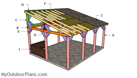 16x20 Lean to Pavilion Plans   MyOutdoorPlans   Free