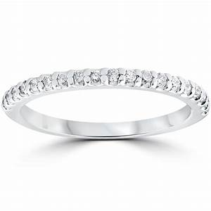 1 5 cttw diamond stackable womens wedding ring 10k white for Wedding rings in white gold
