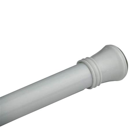 Tension Curtain Rods Home Depot by Glacier Bay 72 In Minial Tension Shower Rod In White Sr