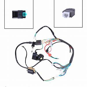 50 70 90 110 125cc Mini Atv Complete Wiring Harness Cdi