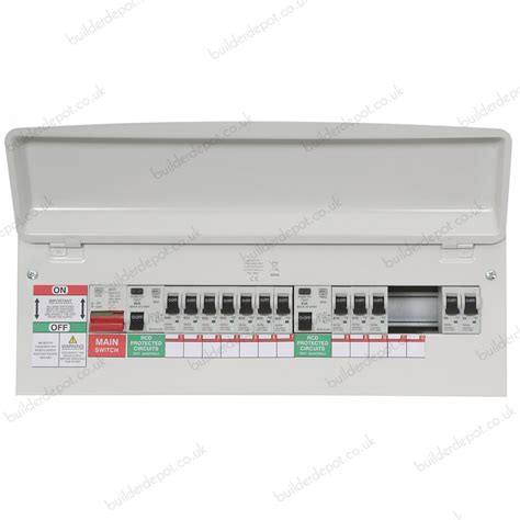 mk sentry 21 way populated dual rcd metal consumer unit with 100 switch disconnector