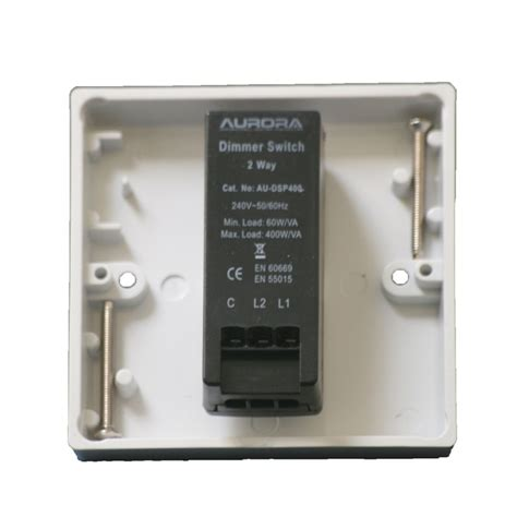 dimmer switch  gang   rotary control  va push   white