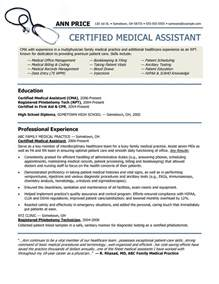 certified assistant resume skills healthcare resume assistant resume free assistant resume sle