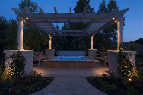 gazebo pergolas  pavilions outdoor lighting