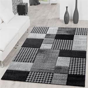 Wohnzimmer Teppich Grau : teppich karo grau anthrazit creme wohnzimmer teppich ausverkauf moderne teppiche ~ Whattoseeinmadrid.com Haus und Dekorationen
