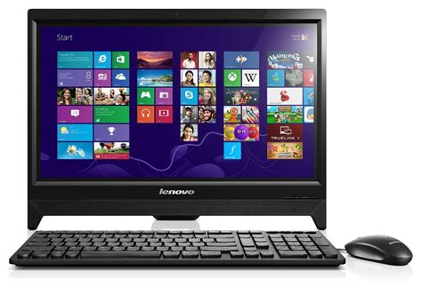 samsung ordinateur de bureau lenovo c260 19 5 inch all in one touchscreen desktop