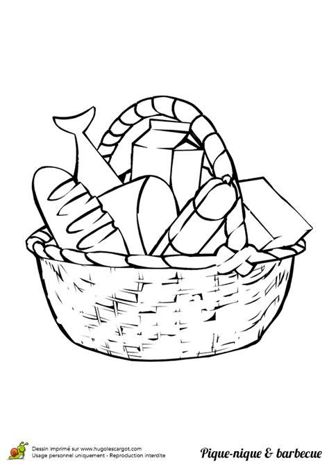 un jeu de cuisine coloriage panier pique nique barbecue sur hugolescargot