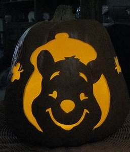 25 best halloween images on pinterest halloween pumpkins With winnie the pooh pumpkin carving templates