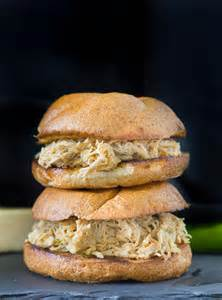 Crock Pot Pulled Chicken Sandwich