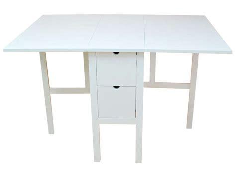 table de cuisine à vendre table pliante 80 cm tidy coloris blanc chez conforama