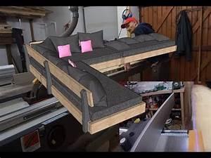 Fabriquer Un Canapé En Palette : comment fabriquer un sofa canap d 39 angle partie 1 youtube ~ Voncanada.com Idées de Décoration