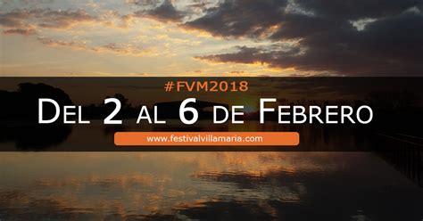 artistas festival villa maria  grilla  programacion