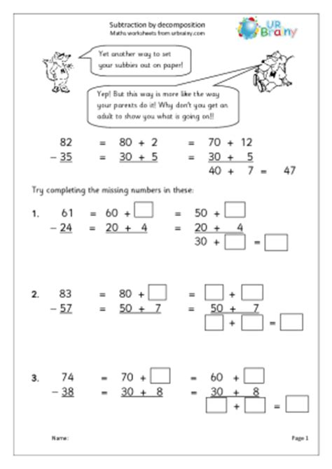 All Worksheets » Decomposing Fractions Worksheets  Printable Worksheets Guide For Children And