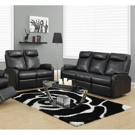 Sofa Set In Walmart by Monarch 2 Reclining Rocker Leather Sofa Set In Black
