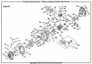 Homelite Ry08554 Blower  Vacuum Parts Diagram For Figure B