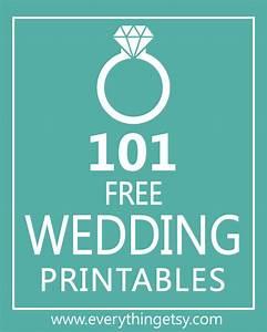 101 Wedding Printables {free} - EverythingEtsy com