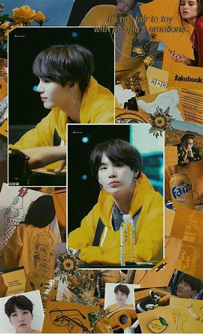 Bts Aesthetic Yellow Suga Yoongi Lock Screen