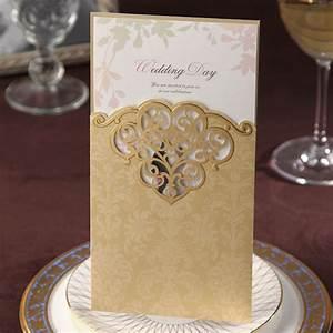 gold color classic elegant wedding invitations cards With wedding invitations in gold color