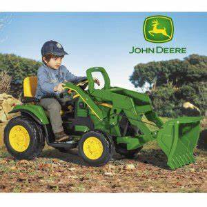 12v John Deere Ride on Tractor Ground Loader with Radio ...