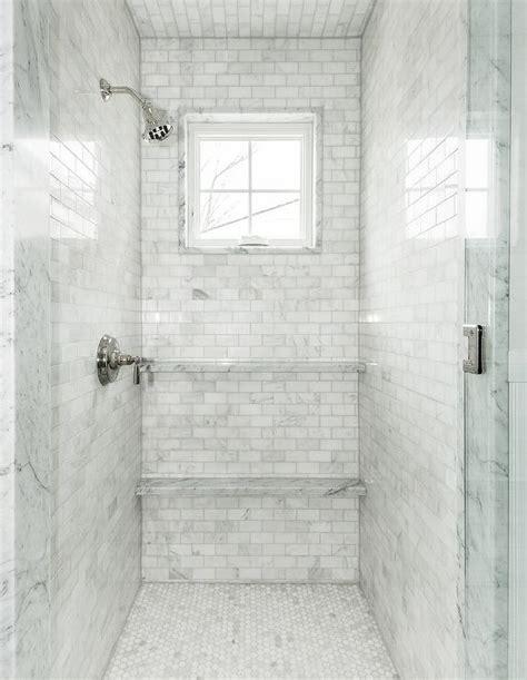 marble shower  multiple shower sprays transitional