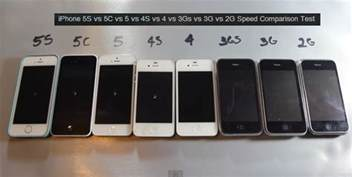 iphone generations iphone speed test comparison between all generation