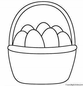 Easter Basket - Coloring Page (Easter)
