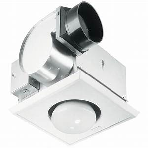 Bathroom cfm exhaust fan with heat lamp and light