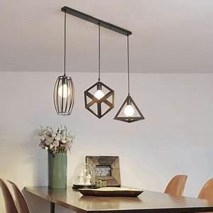 Suspension 3 Lampes : lustre suspension 3 lampes industriel luminaire abat jour ~ Melissatoandfro.com Idées de Décoration