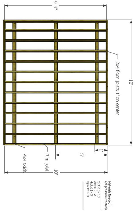 Deck Plan 12 by Awesome 10x12 Deck Plans 7 10x12 Shed Floor Plans