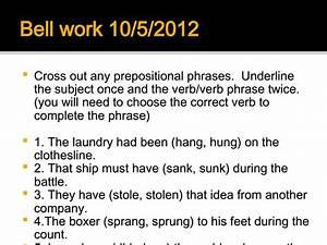 Grammar Bellwork Presentation For 7th