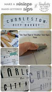 how to make a vintage inspired hand lettered wooden sign With how to make wood signs with lettering